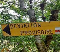 GR 4 Déviation passerelle de Montalescot